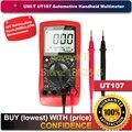 UNI-T UT107 LCD Handheld Automotive Multímetro AC/DC voltímetro Testador Metros com HABITAR, RPM, Verificação Da Bateria