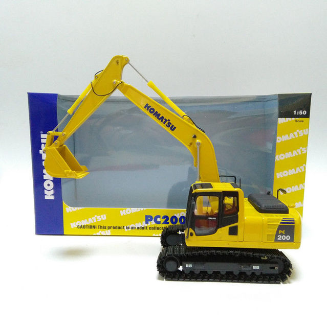 US $59 0 |DieCast Toy Model 1:50 Scale Komatsu PC200 8 Hydraulic Excavator  Engineer Machinery Construction Vehicles for Decoration,Gift-in Diecasts &