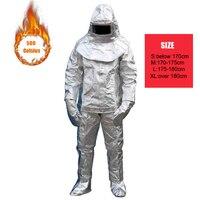500 градусов Алюминий фольга пожарная одежда теплостойкость радиационная стойкость раздувать замедленного костюм полный защитный комплект
