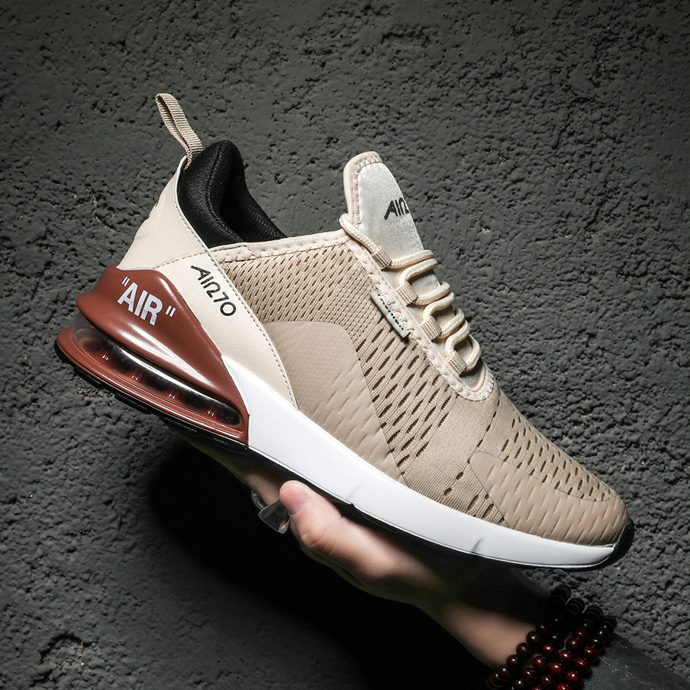 Men Running Shoes New Brand Women Sport Shoes Breathable Air Sole Mesh Lace-up Outdoor High Quality Footwear Trainer Sneakers 35
