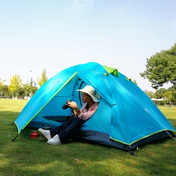 Desert&Fox Backpacking Camping Tent 2-3 Person Aluminum Poles Lightweight 2.4kg Travel Double Layer Waterproof Tents 1