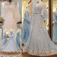 LS22589 Preise in Euro Robe Mariage Vestido De Noiva Vintage Oansatz Lace Up Zurück A Line mit Jacke Spitze Hochzeitskleid Strand