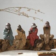 Creative Ceramic Zen Sand Crafts Home Decoration Office Ornaments Ru Kiln Buddha Statue Pottery Sculpture Dharma