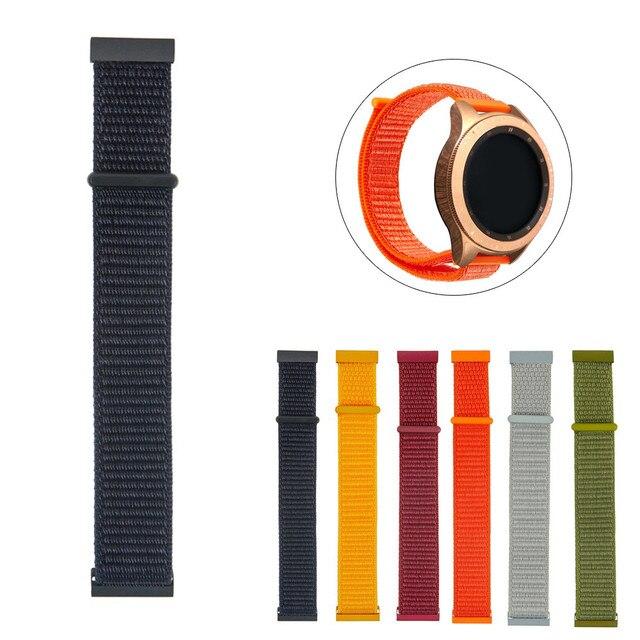 Ремешок для часов Часы нейлон переплетения ремешок 20 мм для samsung Galaxy часы мм 42 мм/шестерни спортивный браслет montre reloj relogio