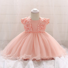 Neonatal 2018 New Baby Girl Dress 0-3Years Baby Girls Birthday Dresses Vestido flower birthday party princess dress