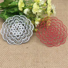 Flower Doily Metal Cutting Dies Stencil Scrapbooking Photo Album Card Paper Embossing Craft DIY(China (Mainland))