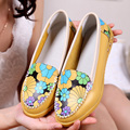 2015 Spring new arrival low shallow mouth print women's shoes lady genuine leather shoes fashion casual shoes for women flats