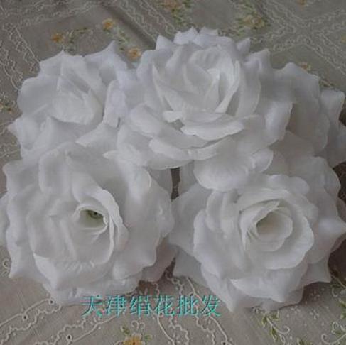 50 шт. искусственная Камелия Роза Пион Свадебные цветы декоративные искусственные цветы несколько цветов - Цвет: snowy white