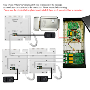 Image 5 - Kablolu 4.3 Video interkom sistemi diyafon Kamera ile kapı zili renkli Video kapı telefonu 3 Monitörler Çok Daireler/ev