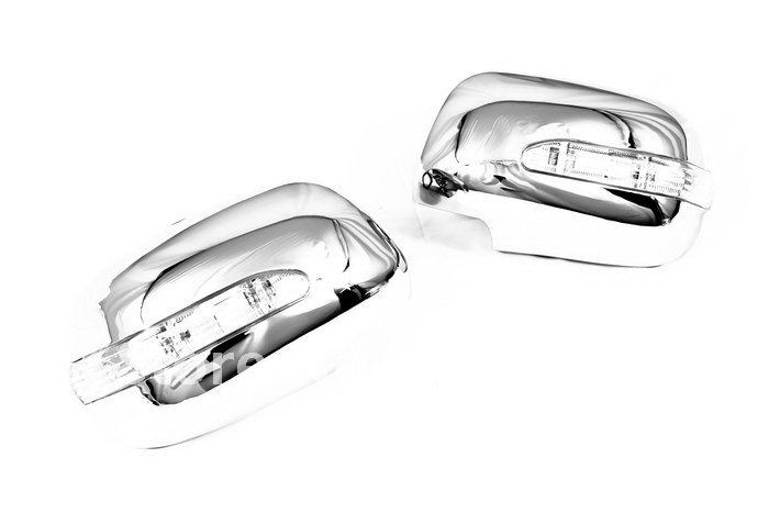 цена на High Quality Chrome Mirror Cover With LED Side Blinker for Lexus RX330 / 350 / 400h 04-09 free shipping