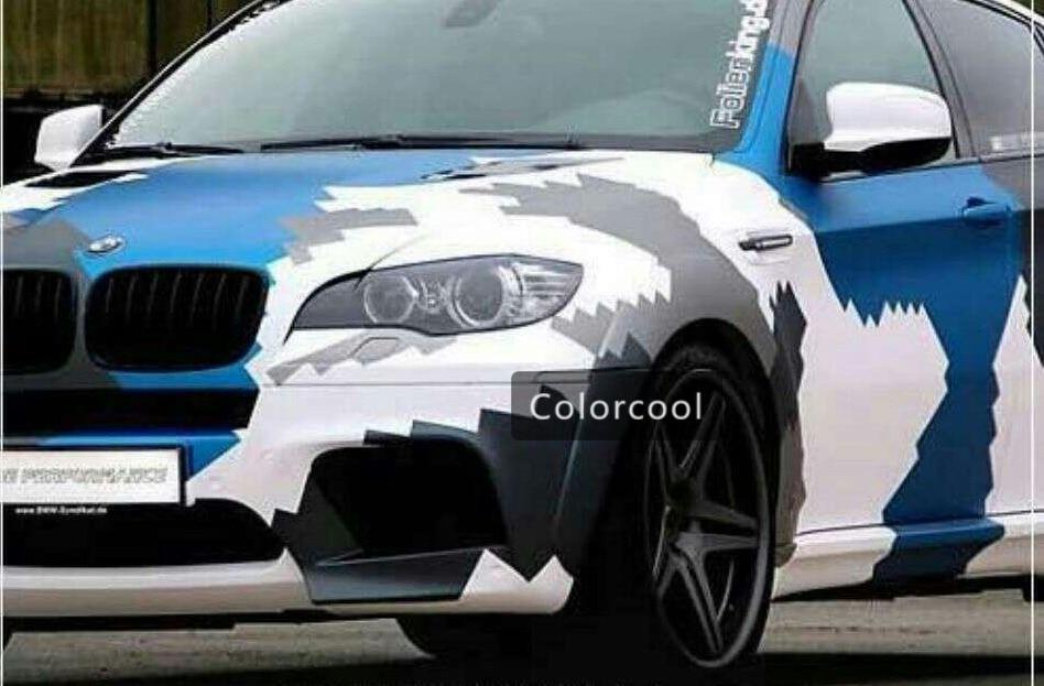 Camouflage personnalisé bombe autocollant de voiture Camo Vinyl Wrap de voiture Wrap With Air Release bombe autocollant carrosserie autocollant