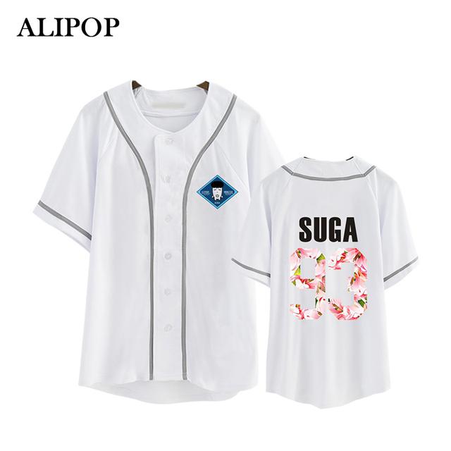 ALIPOP BTS KPOP Corea Moda 2th Álbum ALAS K-POP Bangtan niños Monster HipHop Camiseta De Algodón Camisetas Camiseta PT250