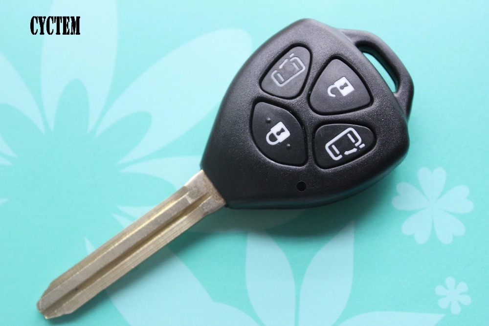 CYCTEM 4 Buttons Remote Key Shell Fob Case Car Key Blank Cover Fit For Toyota Camry Toy43 Blade + Free Shipping