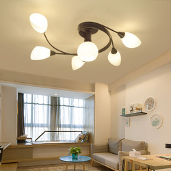 Zabytkowe żyrandole wielokrotnego pręta kutego lampa sufitowa żelazna E27 żarówka