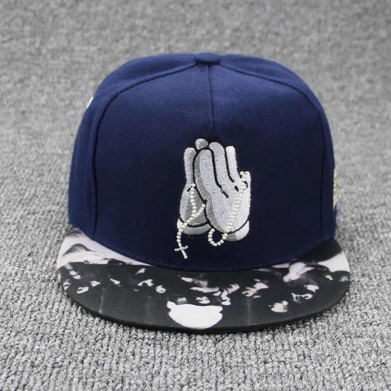 675c43d5b09 ... 2018 New Buddha palm baseball cap Baseball Cap Hip Hop Caps for Men  Womens Leather Sun ...