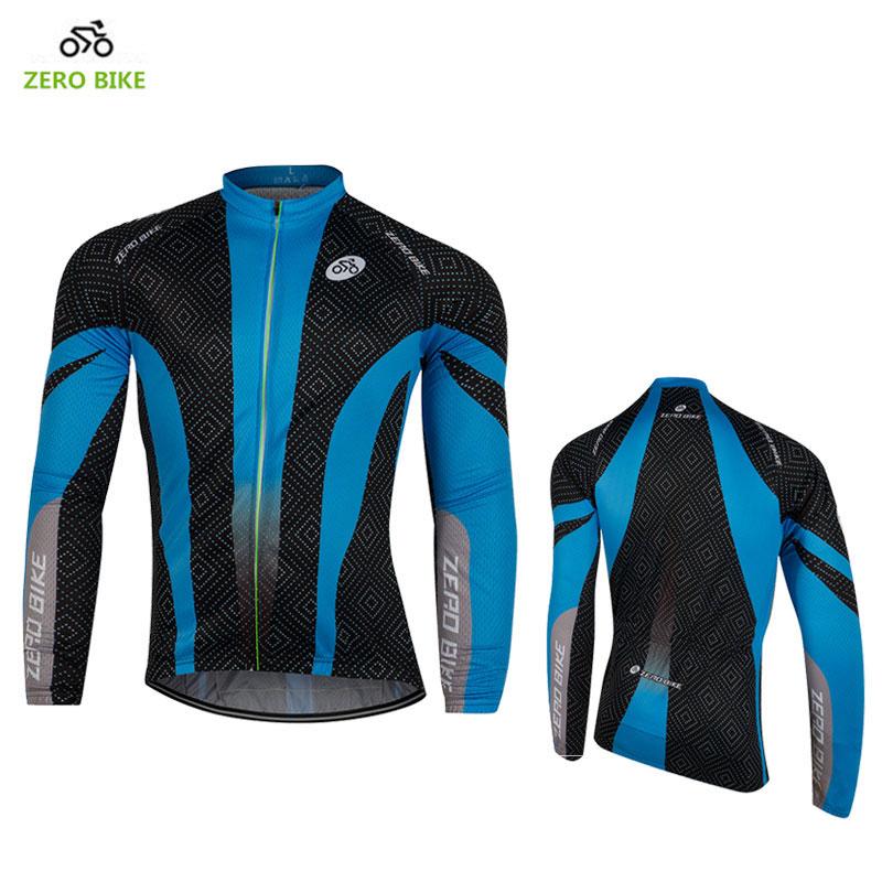 ZEROBIKE tavaszi / őszi férfi MTB kerékpáros mez Légáteresztő teljes cipzáras dzsekik