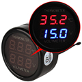 Universal 2 in 1 LED Dual Digital Car Thermometer Voltmeter Cigarette Lighter Plug Auto Accessories Voltage Monitor Meter