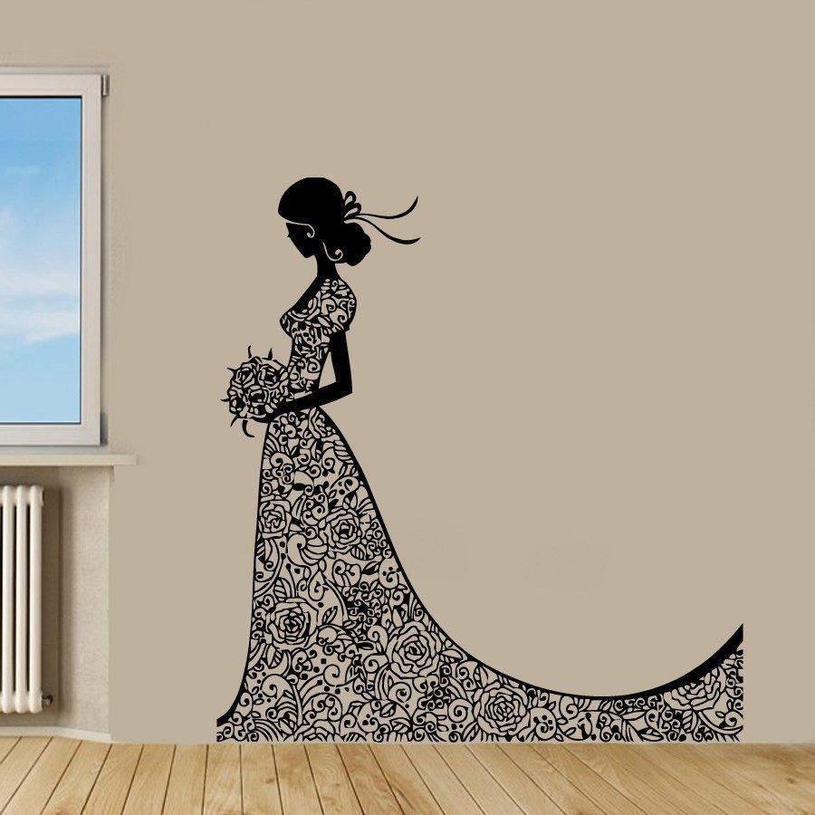 Wall Decal Vinyl Beauty Bride Sticker Fashion Girl In