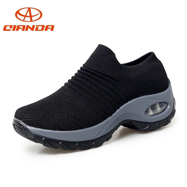 49cfa03f0b Zapatillas de correr transpirables para mujer, acolchadas para caminar al  aire libre, calzado deportivo