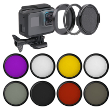 7 in 1 Camera Filter 52mm CPL FLD UV ND4 Red Yellow Sea Diving Filter + Ring + Lens Cap For Gopro Hero 7 6 5 hero(2018) lvshi glass aluminum alloy cpl 52mm camera filter lens black