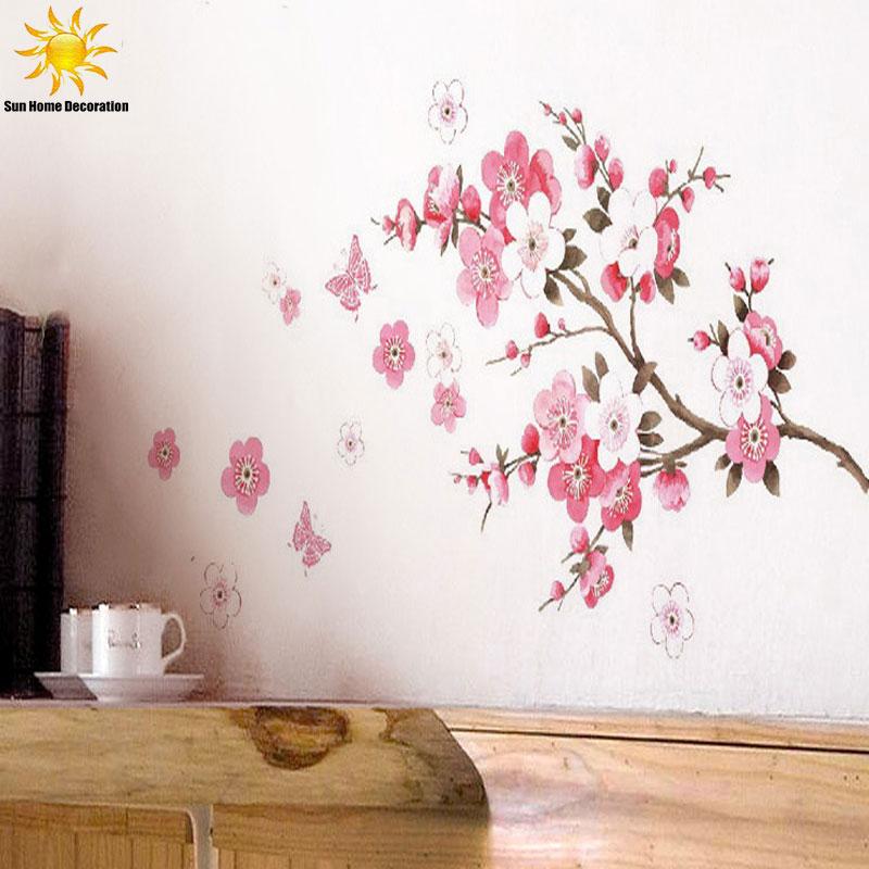 Lovely Aliexpress Com Buy Removable Pvc Modern Peach Blossom Butterfly Home Decor  Art Wedding Room Girls Room