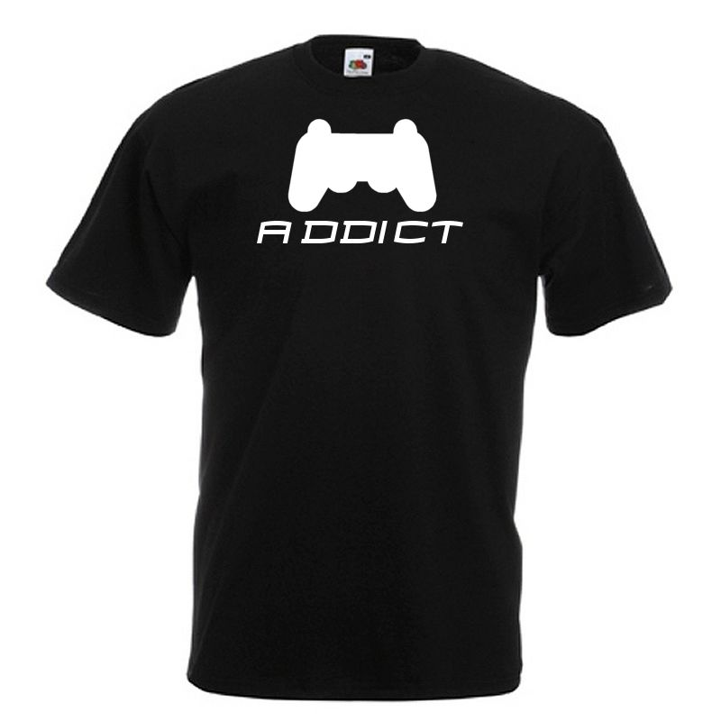 Video Game addict FPS RPG Standard Black T-Shirt for hardcore gamers