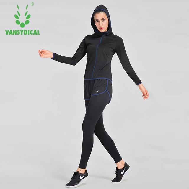Vansydical Nouveaux Sports De Course Ensembles Femmes Jogging Costume Gym  Fitness Yoga Vêtements 6 pcs  1cad3957026