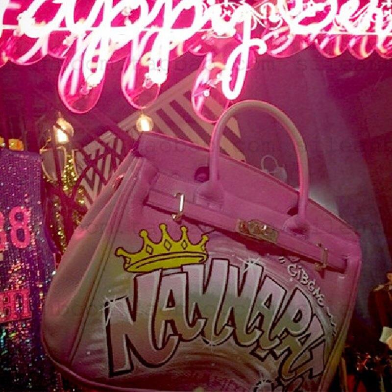 Y Peint Femmes Pink À Gamystye Togo Totes Peau Main En De Top Vache Cuir Sacs Poignée Bandoulière Coursier Matériel Or Rose Sac La 14xzxdf