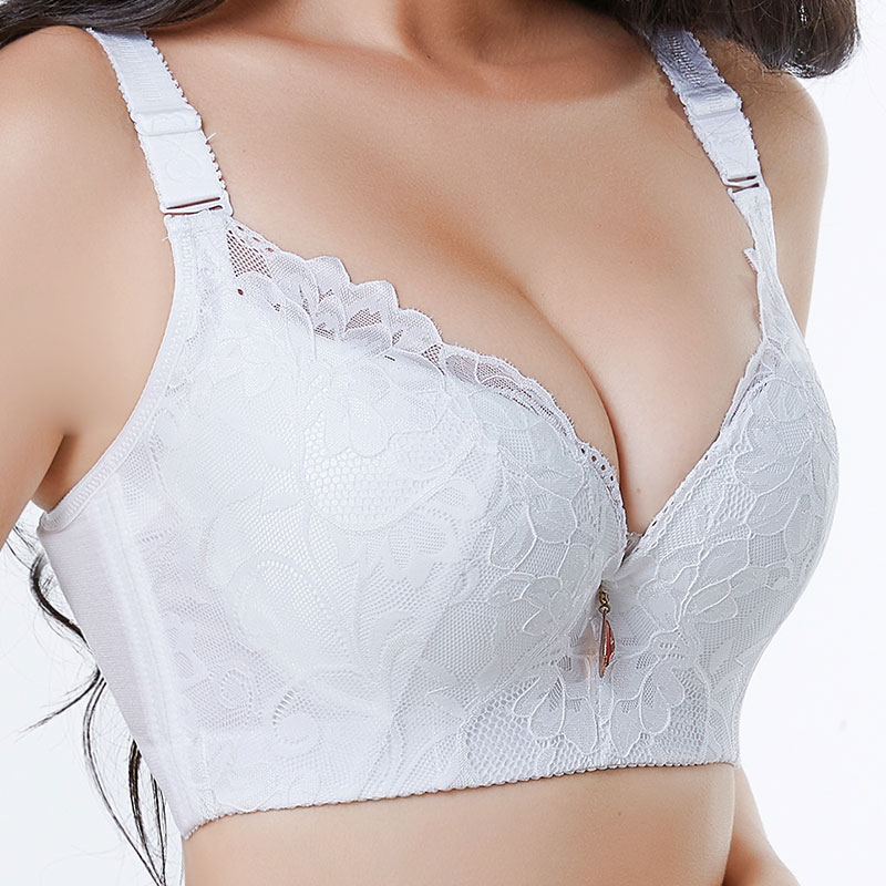 aba2bbf6baf Detail Feedback Questions about Gather money together Lace breathes  Adjustment type Lady big code Underwear Fat MM cup Breast collection Steel  ring Bra bra ...