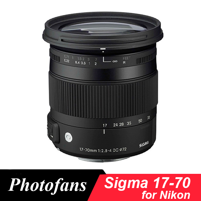 Sigma 17-70 Sigma 17-70mm f/2.8-4 DC Macro OS HSM Lens for Nikon D3200 D3300 D3400  D5200 D5300 D5500 D5600 D7200 D7100 D500 new sigma 50 100mm f 1 8 dc hsm art series lens for canon