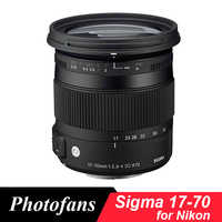 Sigma 17-70 Sigma 17-70mm f/2,8-4 DC Macro OS HSM Objektiv für nikon D3200 D3300 D3400 D5200 D5300 D5500 D5600 D7200 D7100 D500