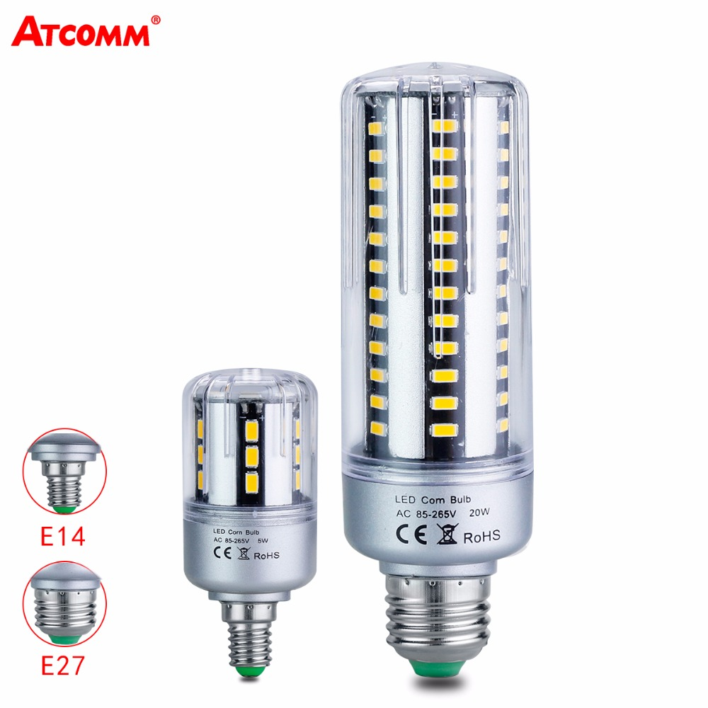 Rapture Atcomm E14 E27 Led Diode Lamp 5w 7w 9w 15w 20w 25w 85-265v Ampoule Led Corn Bulb Smd5736 24 36 42 60 78 90 Leds Light Bombillas Wide Selection; Light Bulbs