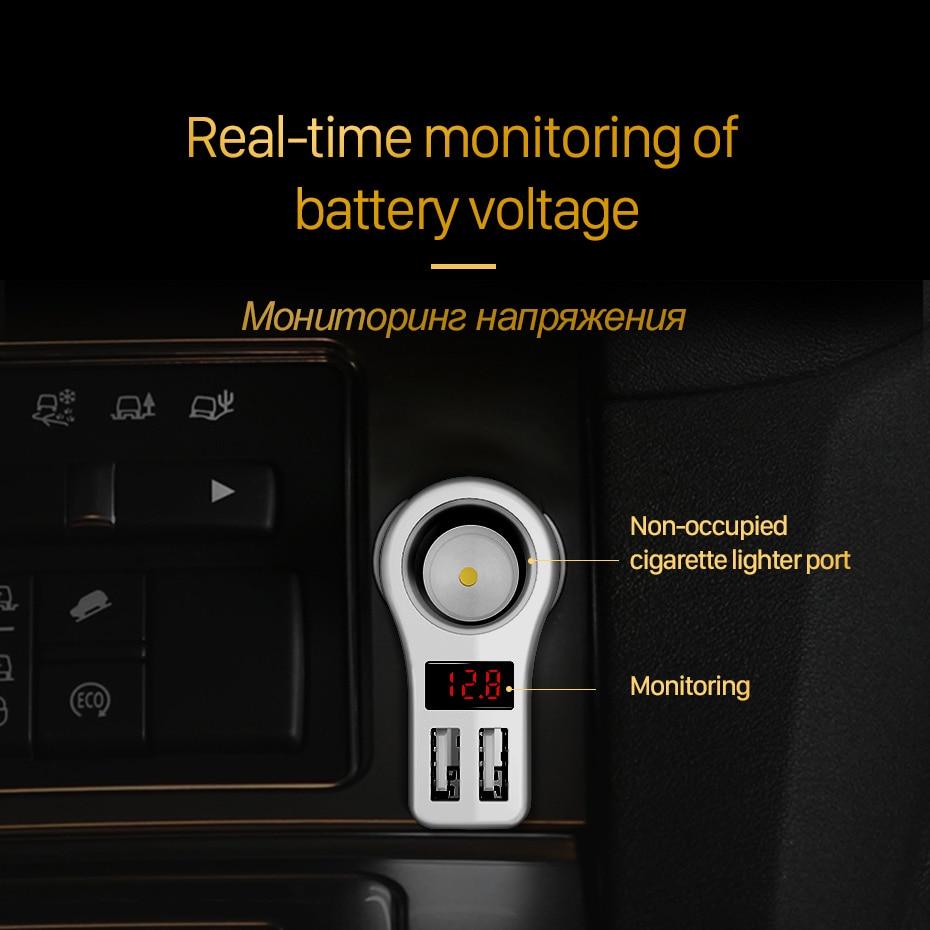 HOCO Z10 Car Charger Digital Digital Dual USB լիցքավորիչ - Բջջային հեռախոսի պարագաներ և պահեստամասեր - Լուսանկար 5