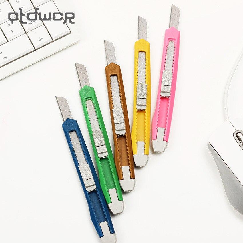 1 шт. модные офисные канцелярские принадлежности металлические и пластиковые маленькие размеры универсальный нож цвет случайным образом д...