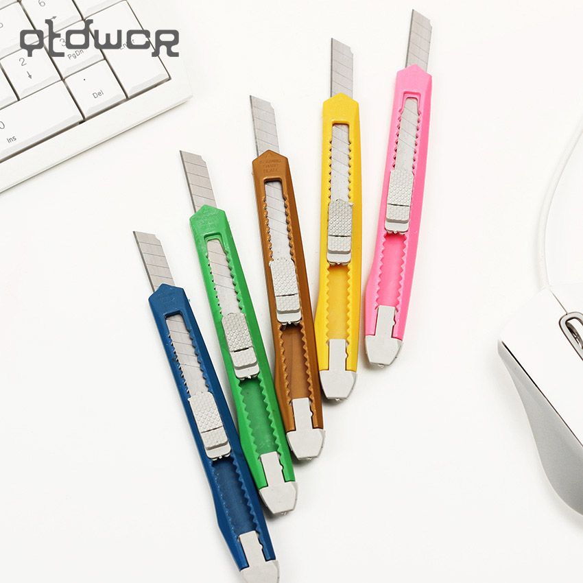 1PC Fashion Office Stationery Metal And Plastic Small Size Utility Knife Color Randomly Delivered