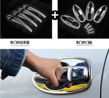 Higher star ABS chrome 8 units bright door handle cover+ 8units door handle bowl for Renault Kadjar 2015