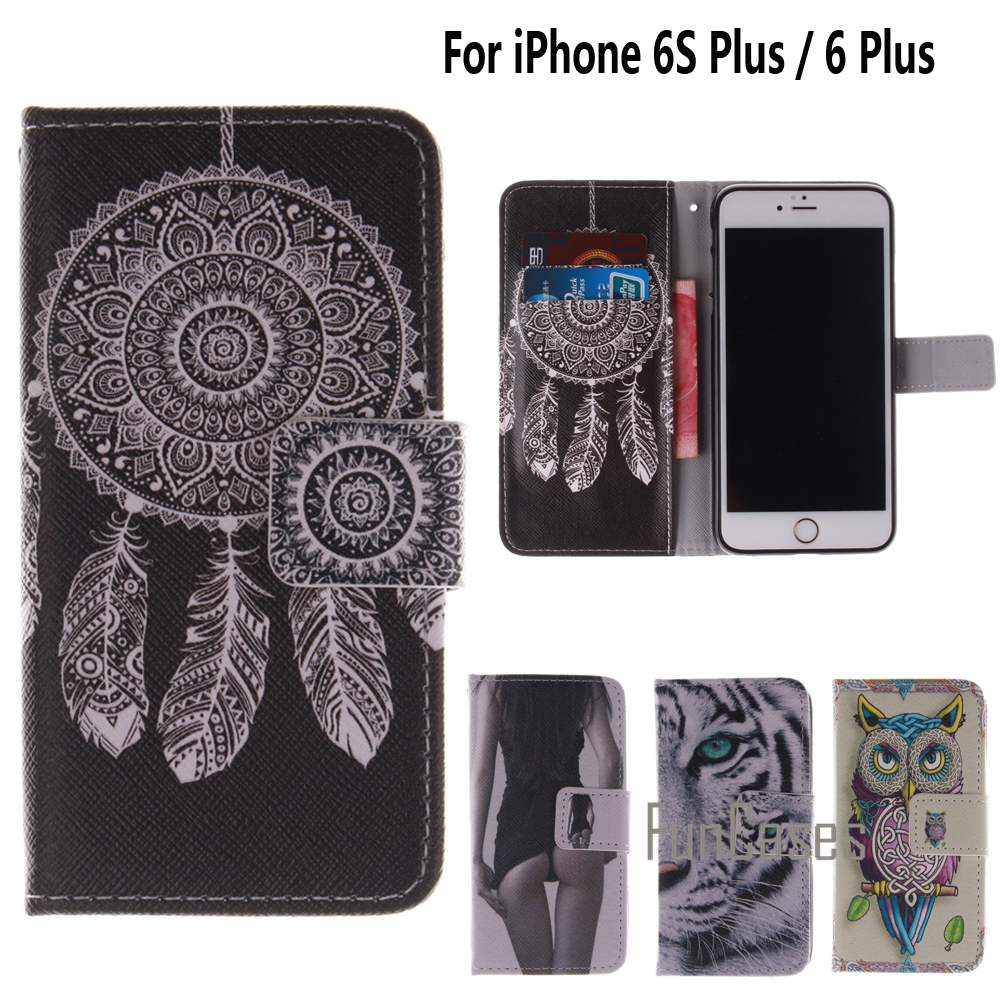 Case for coque iPhone 6 Plus Case for fundas iPhone 6S Plus Cover Case 5.5 inch + Stand Card Holder ifone mobiiltelefon