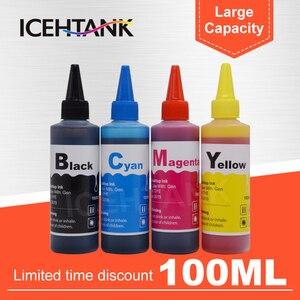 Image 1 - ICEHTANK Printer Ink Refill kit For HP for Canon For Epson For Brother Inkjet Cartridge Ciss tank Universal 100ml Bottle Dye Ink
