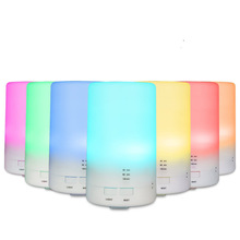 7 Color Changing LED Light Essential Oil Diffuser 100ML Mini Ultrasonic Cool Mist Air Humidifier for Car Aroma Mist Maker gxz flower vase aroma diffuser essential oil night light ultrasonic air humidifiers mist maker mini desk air purifier 100ml