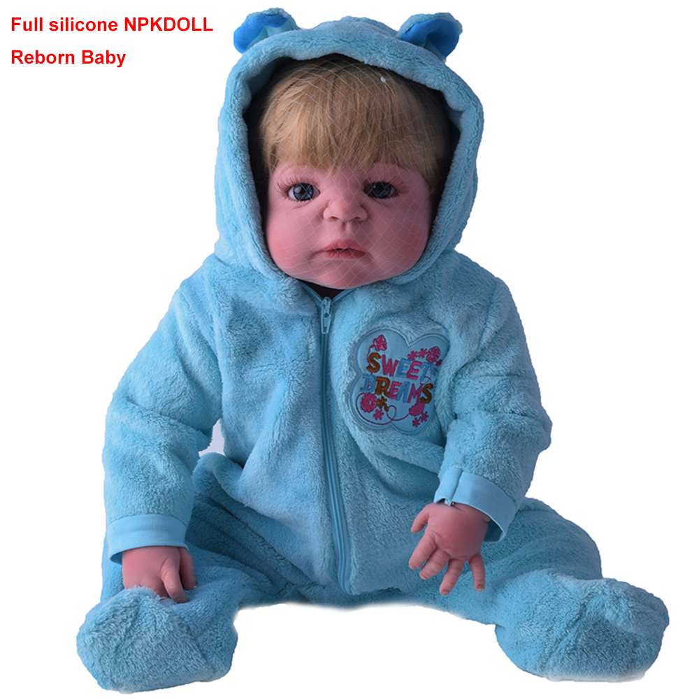 G324 NPKDOLL 50cm Soft Silicone Reborn Baby Dolls Realistic Reborn Doll 20 Inch Full Vinyl Boneca BeBe Reborn Doll For Boys