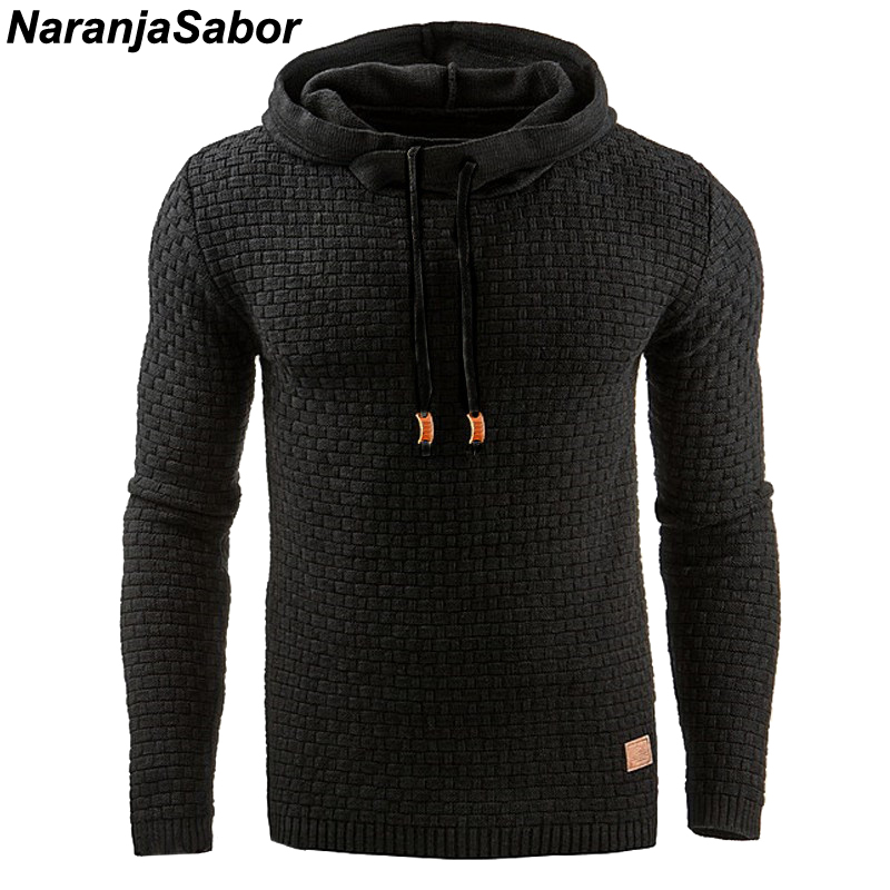 Autumn Men's Slim Hooded Sweatshirts 1
