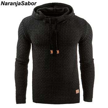 NaranjaSabor 2020 Autumn Men's Hoodies Slim Hooded Sweatshirts Mens Coats Male Casual Sportswear Streetwear Brand Clothing N461 1
