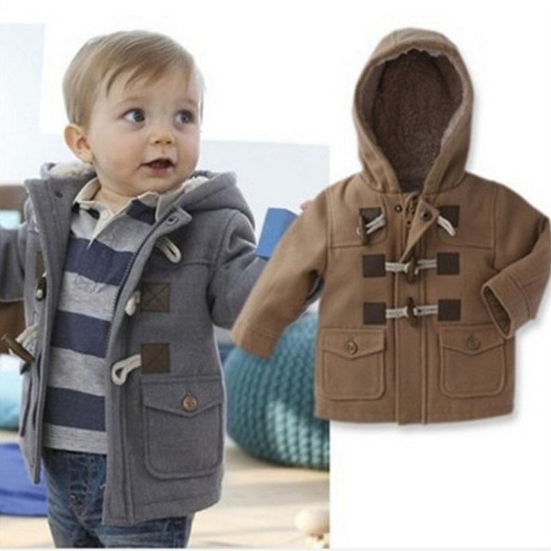 2018 ветровка Повседневное пальто для мальчиков Куртка для мальчиков с капюшоном Европейский Стиль осень-зима Одежда для мальчиков детская о...