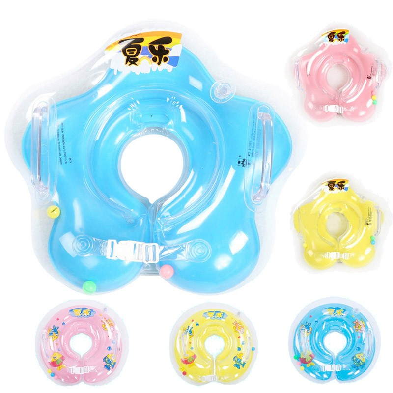 Free Shipping  swimming baby accessories swim neck ring baby Tube Ring Safety infant neck float circle for bathing Inflatable environmentally friendly pvc inflatable shell water floating row of a variety of swimming pearl shell swimming ring