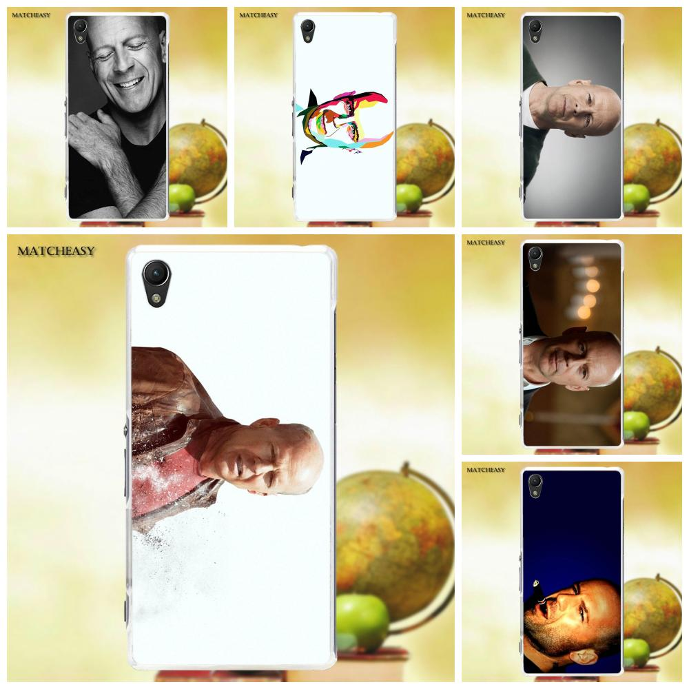 Oedmeb TPU Patterns Live Free Or Die Hard Bruce Willis For Sony Xperia Z Z1 Z2 Z3 Z4 Z5 compact Mini M2 M4 M5 T3 E3 XA