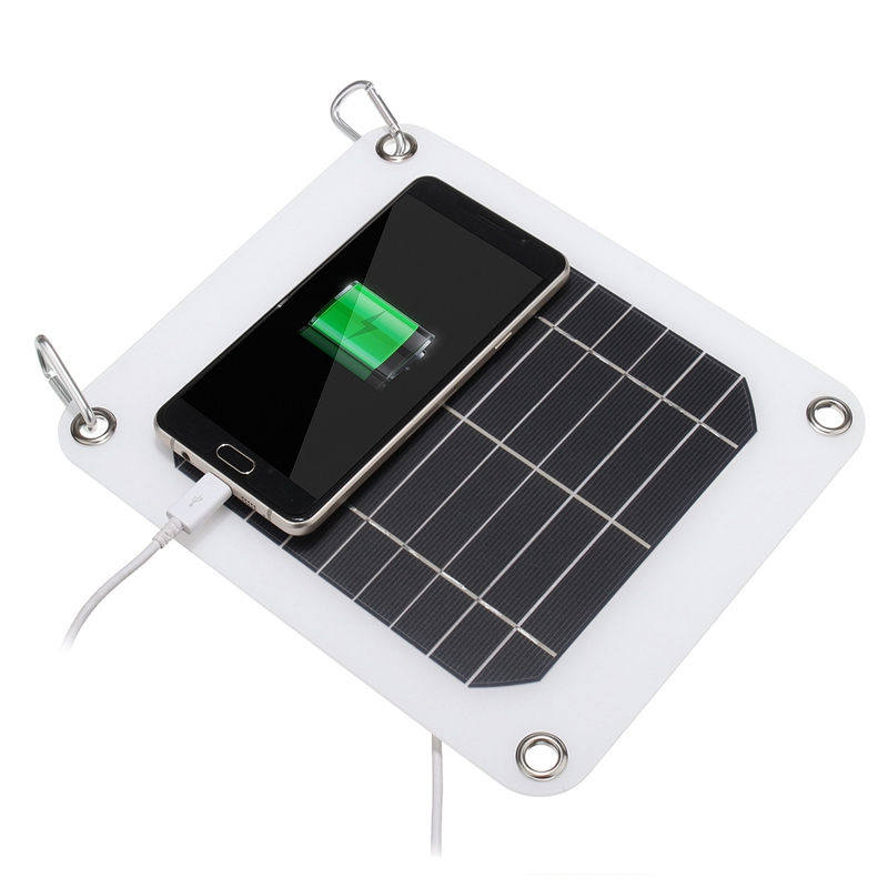 ᗔ5W 5V Solar ₩ Panel Panel Charger Ailicon Aunpower Aolar ...