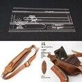 1 Набор DIY акриловый кожаный шаблон для дома ручная работа кожевенное ремесло шитье шаблон инструменты аксессуар нагрудная сумка через плеч...