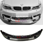 R STYLE REAL CARBON FIBER FRONT LIP SPOILER For BMW E82 1M 2011 2013