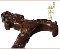 Home Craft old gift African ebony cane mosaic leading high grade mahogany walking stick walker wood tool Back to product details