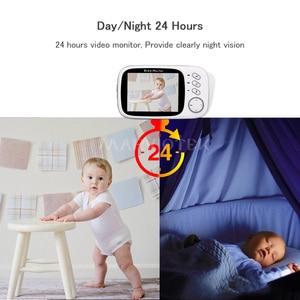 Image 2 - Baby Monitor Video Farbe LCD 2 weg Audio Sprechen 8 Lullabies Temperatur monitor video nanny radio babysitter baby kamera Wireless